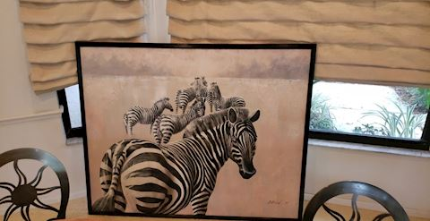 Zebra Painting - Appears Like Acrylic