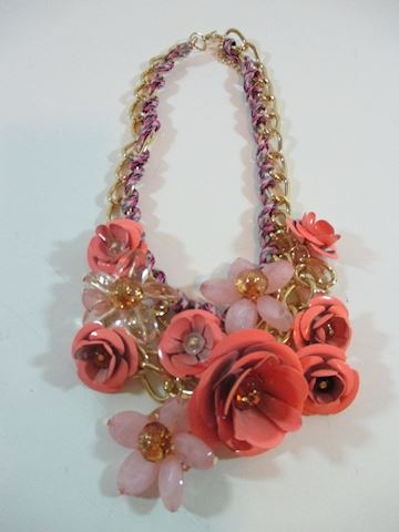Vtg 80's Haute Rose /Rhinestone Necklace