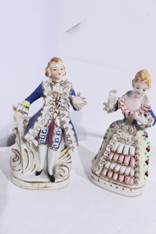 Antique Figurines Hand Painted Japan
