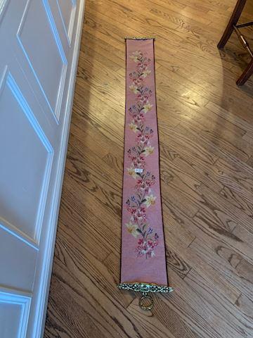 Lot 0122 Servant Butler bell pull tapestry 66x8