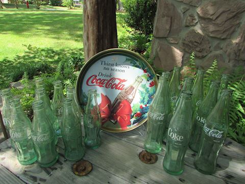 Coca Cola Collection w/Round Ltd Ed Tray 19 pc lot