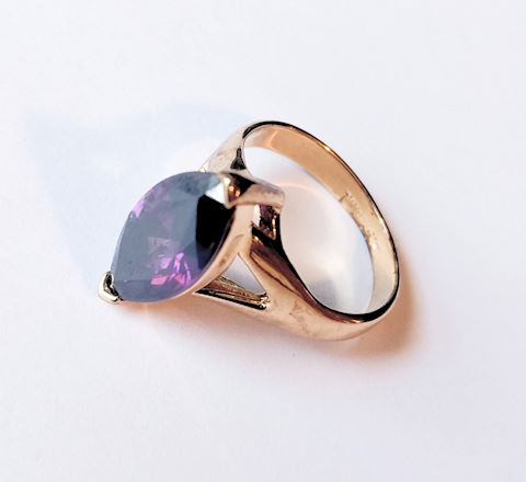Sterling Silver Ring Amethyst Gemstone