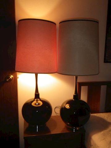 Mid Century Black Lamps