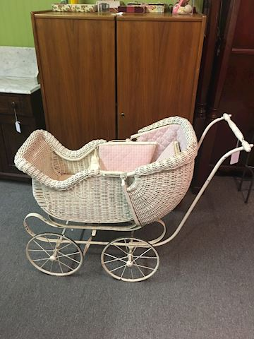 Antrique Wicker Stroller 100+ years old