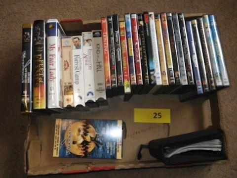 Lot #25 - VHS & DVDs