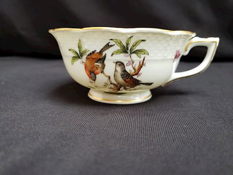 HEREND ROTHSCHILD BIRDS 734 FOOTED CUP ONLY 2""
