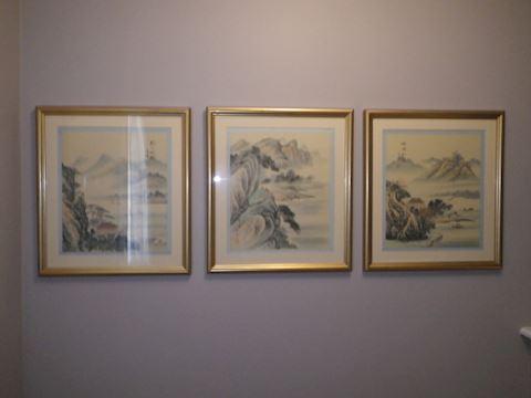 3 Pieces of Asian Inspired Art (Front Door)