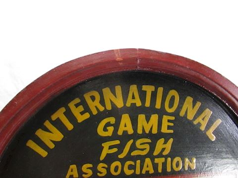 International Game Fish Assoc Wooden Plaque