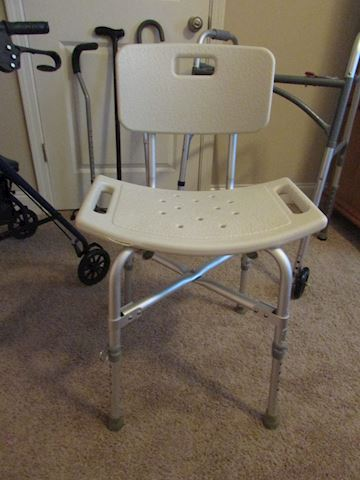 Handcap shower/changing chair