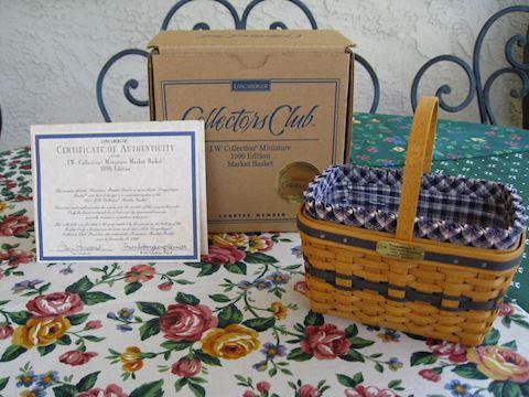 1996 JW Miniature Market Basket