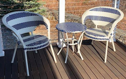 2.Pair Café Style Chairs & Round Café Style Table