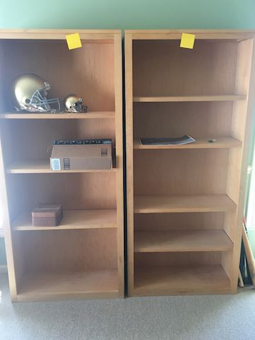 2 Room & Board Tall Bookshelves - Contents NOT Inc