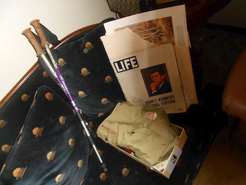 Lot # 3 Scout items, vintage mags, etc