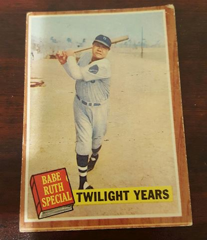 Vintage 1962  Babe Ruth Baseball Card #141