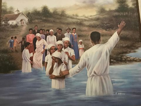 BAPTISM BY THE RIVER by R. Williams