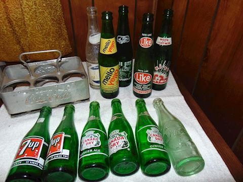 Collection of Antique Soft Drink Bottles