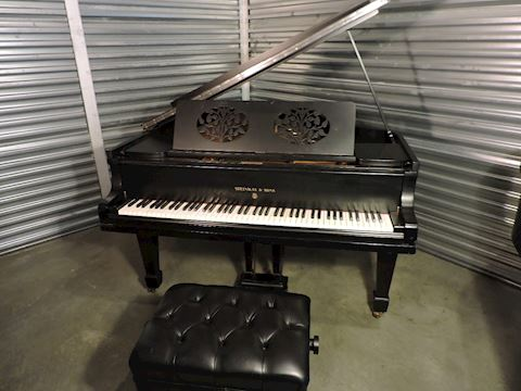 Piano Steinway 1919 Grand Model O Matte Black