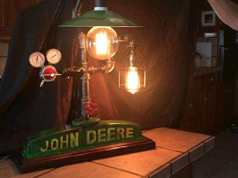 John Deere Steampunk lamp