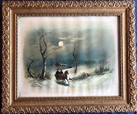 Framed William Henry Chandler  - Winter Sled #2