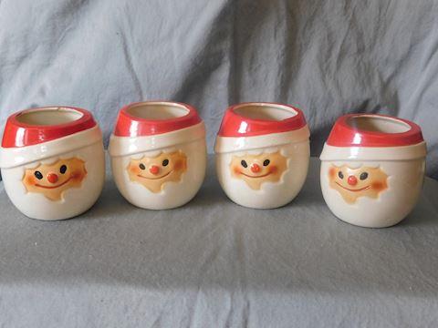 Four Santa Cups