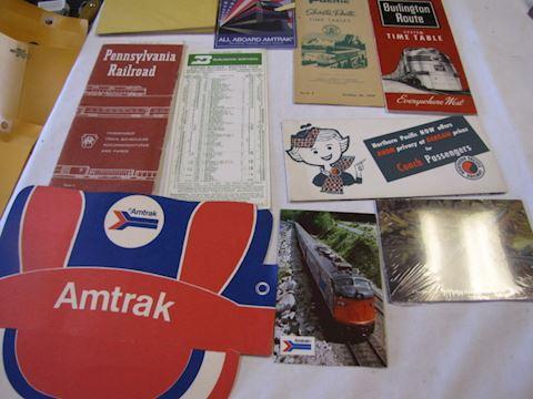 Railroad Memorabilia - Routes, Schedules ....