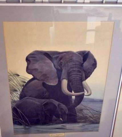 Elephants print - hand signed