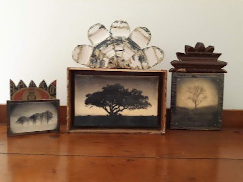 D-107...Hand crafted Antique Decor - 3 pieces