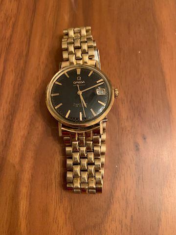 JW  102  Omega Watch Seamaster DeVille Gold