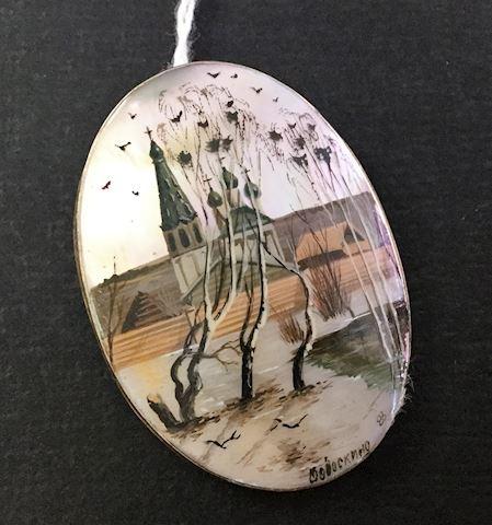 handpainted brooch pin Germany?