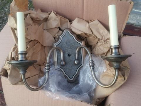 2x pewter finish classical wall sconce by Kichler