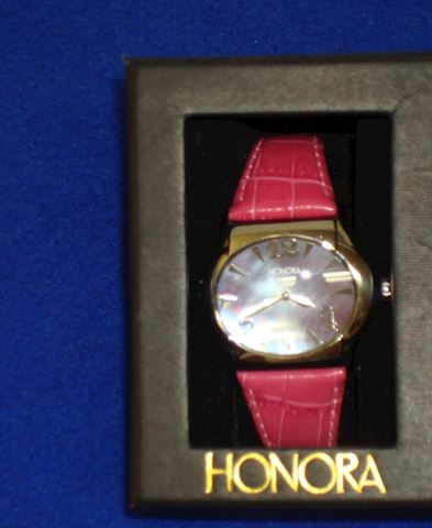 Watch-Vintage- Honora- Red Leather Band