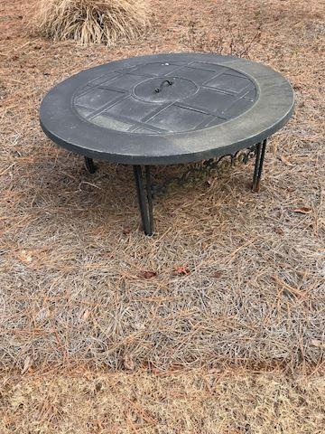 Round Cast Iron Fire Pit