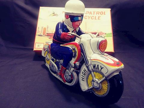Tin Friction Toy Motorcycles