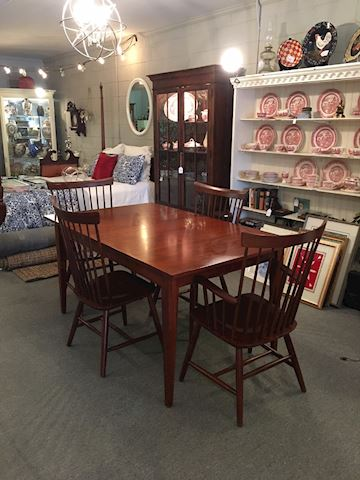 Ethan Allen Table and 4 Berkshire Chairs
