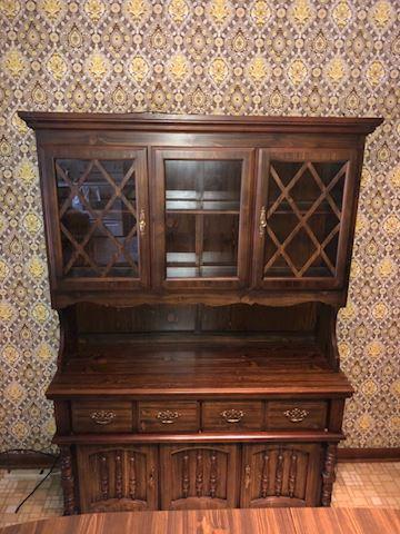 Vintage Bassett China Cabinet/Buffet