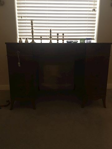 Leather top Art Deco desk