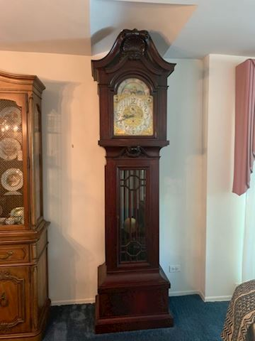 1914 Herschede 9 Tube Grandfather Clock