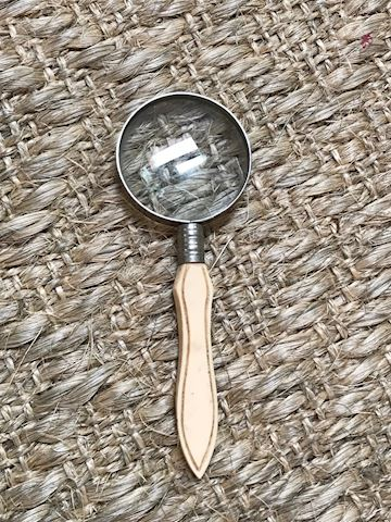 Antique Bone handle magnifier. 6""