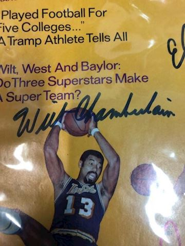 Autographed Lakers Sport magazine - three legends