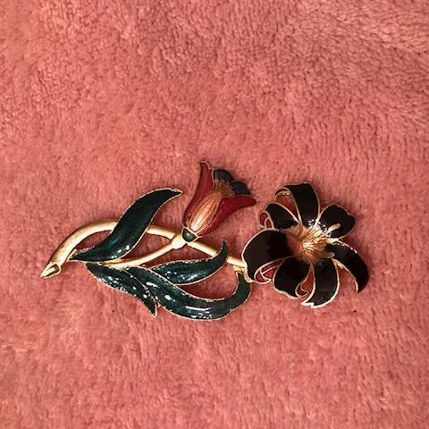 flower pin brooch