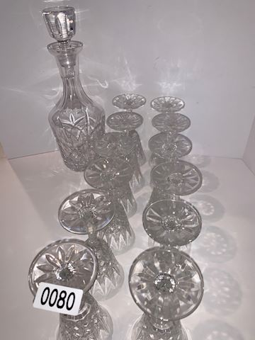 0080 St. Louis  France Crystal Dessert wine glass
