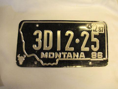 86/87 Montana DealerLicense Plate