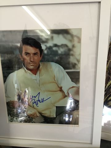 Signed Picture Gregory Peck