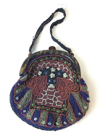 1920's beaded purse handbag 80S216