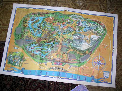 Vintage Disneyland Map, 1968