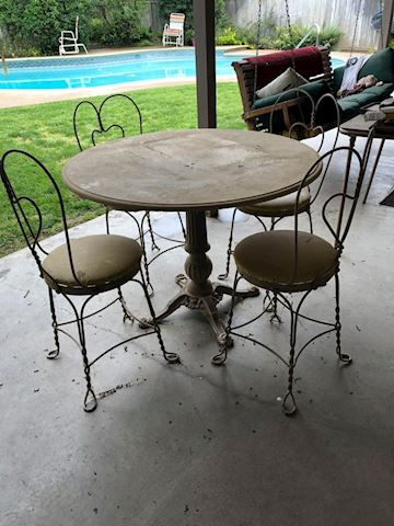 Vintage Ice Cream Parlor Dining Set