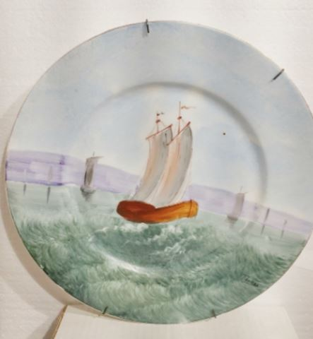 Ships 1880 Hand Painted Wall Hanging