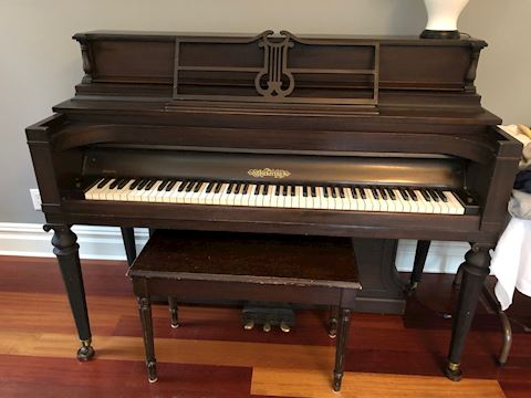 Antique Upright right piano