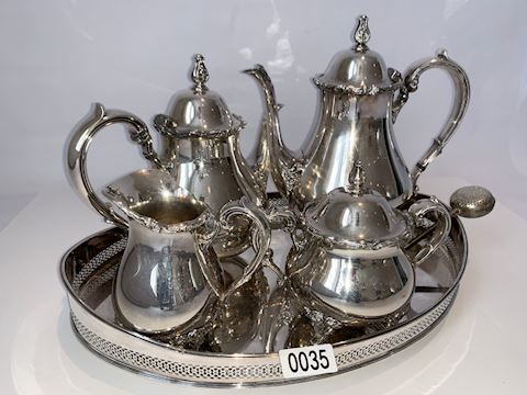 Lot 0035  Wilcox Silver plated teapot set