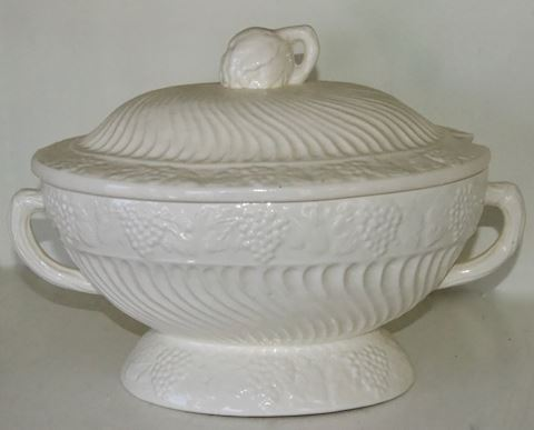 Antique White Covered Soup Tureen